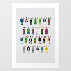 Pixel Supervillain Alphabet Art Print