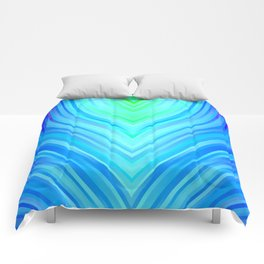 stripes wave pattern 3 s180i Comforters