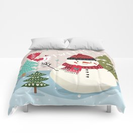 The Sweet Song Of Winter Friends Comforters