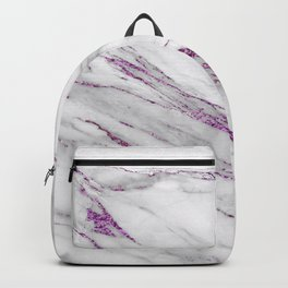 Gray and Ultra Violet Marble Agate Backpack
