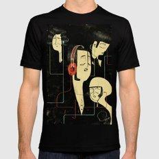 乐 Music Lovers / Vintage Mens Fitted Tee X-LARGE Black