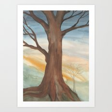 Gold Tree Art Print