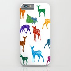 Les biches - Colourful Does pattern illustration Slim Case iPhone 6s