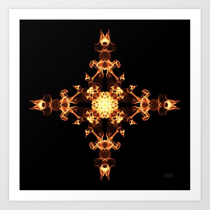 Fire Cross Art Print