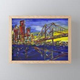 Philly Skyline with Ben Franklin Bridge Framed Mini Art Print
