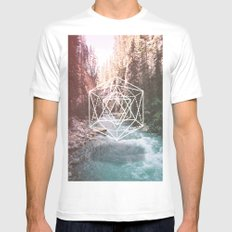 River Triangulation Mens Fitted Tee White MEDIUM