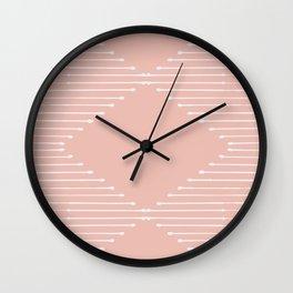 Geo / Blush Wall Clock