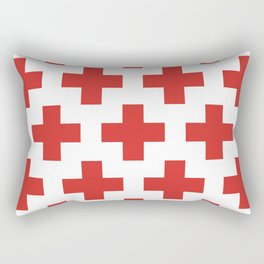 classic retro geometric cross pattern Rectangular Pillow