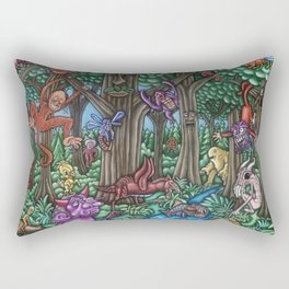 Creatures at Nite Rectangular Pillow