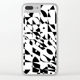 Fractured Structure Clear iPhone Case