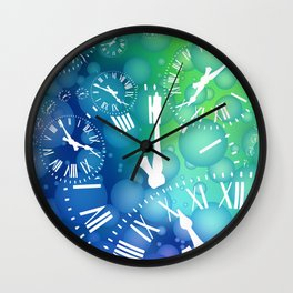 Time bubble Wall Clock