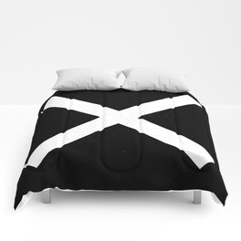 (CROSS) (BLACK & WHITE) Comforters