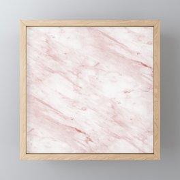 Light rose-gold marble Framed Mini Art Print