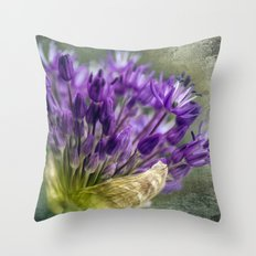 Allium Blossoms Throw Pillow