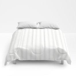 Creamy Tofu White Mattress Ticking Wide Striped Pattern - Fall Fashion 2018 Comforters