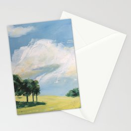 original abstract landscape painting number 9 Stationery Cards