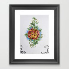 Ornamental Rose Framed Art Print