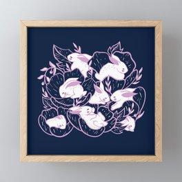 Where the bunnies sleep Framed Mini Art Print