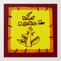 tree with a computer , telephone and other device Canvas Print