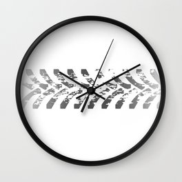 Tractor Tyre Marks Wall Clock