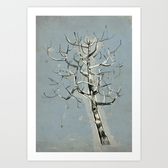 button tree Art Print