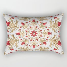 Turkish tulip - Ottoman tile 2 Rectangular Pillow