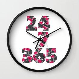 24-7/365 (Lipstick) Wall Clock