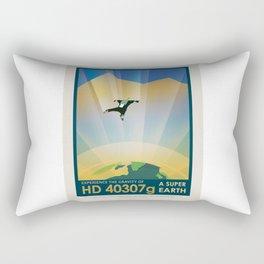 HD 40307 g - NASA Space Travel Poster Rectangular Pillow