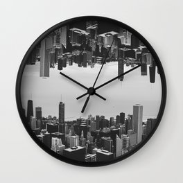 Chicago Double Exposure Wall Clock