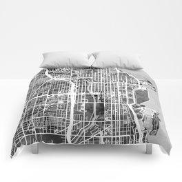 Chicago City Street Map Comforters