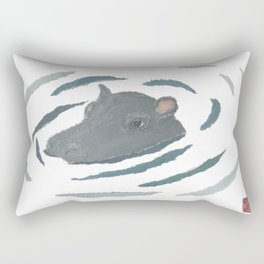 Hippo, hippopotamus, Wildlife, Africa, Savanna, Safari Rectangular Pillow