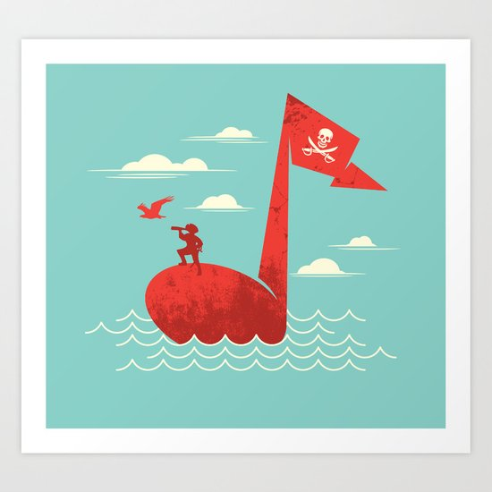 the pirate's song Art Print