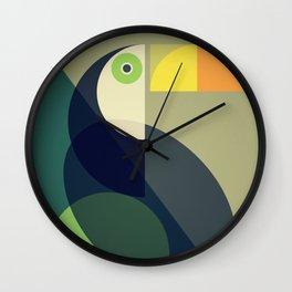 Mid Century Toucan Wall Clock