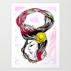 Rose Thorn Art Print