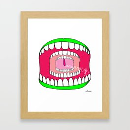Scream AAARGH! Framed Art Print