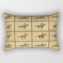 Time Lapse Motion Study Horse muted Rectangular Pillow