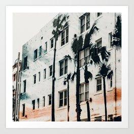 palm mural venice ii Art Print