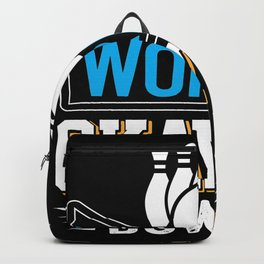 Worlds Okayest Bowler Funny Coworker Gift Backpack