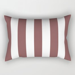 Tuscan red violet - solid color - white vertical lines pattern Rectangular Pillow