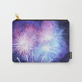 Blue and pink fireworks Carry-All Pouch