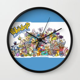 Pokémon - Gotta derp 'em all! - Group photo Wall Clock