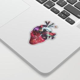 Superstar Heart (on white) Sticker