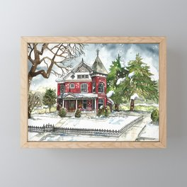 Snowfall Framed Mini Art Print