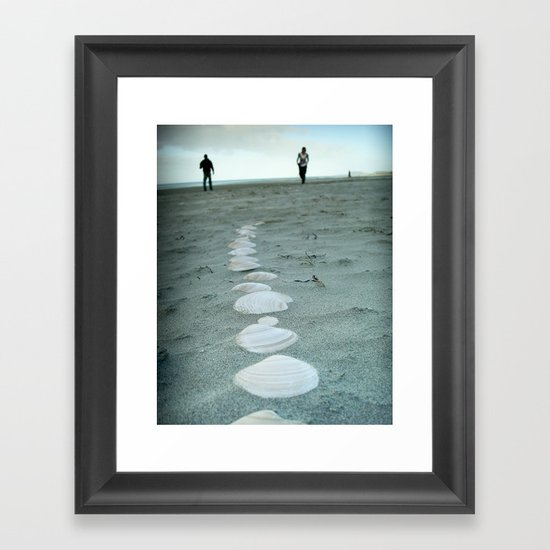 Follow The Seashells Framed Art Print