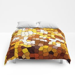 The glowing sun stained glass Comforters