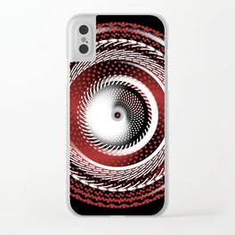 Spinning Out of Control Clear iPhone Case