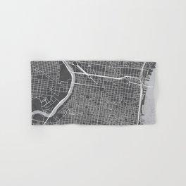 Center City Philadelphia Map Hand & Bath Towel