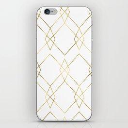 Gold Geometric iPhone Skin