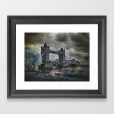 Tower Bridge in Infrared Framed Art Print