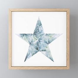 Frosted Star Framed Mini Art Print